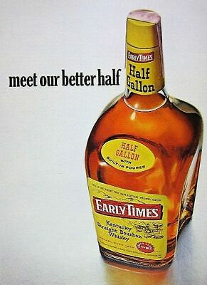 Used, Vintage Early Times Bourbon Whiskey PHOTO Art Advertisement Bottle Ad Sign Ad for sale  Granite City