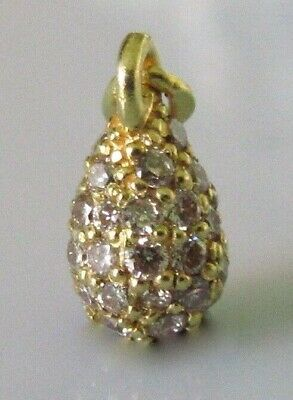 Links of London 18ct Yellow Gold Diamond Bauble Charm