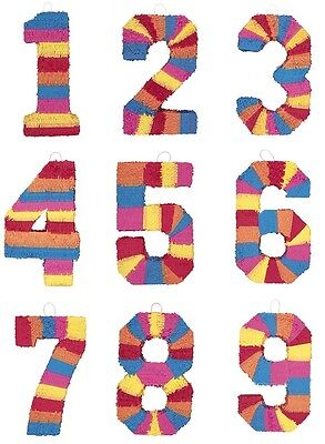 Number PINATA - Childrens Birthday Party Adult Fun Game Activity - Birthday Party Activities Adults