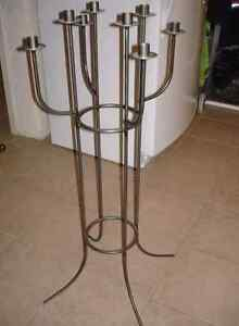 8 Candle Solid Metal Holder