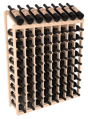 80 Bottle Display View Wine Rack Kit in Ponderosa Pine. Hand Crafted in USA.