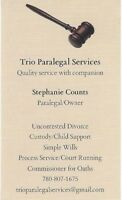 Family Law Paralegal Services & Mobile Commissioner for Oaths