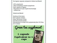 Green tea capsules by pharmanex