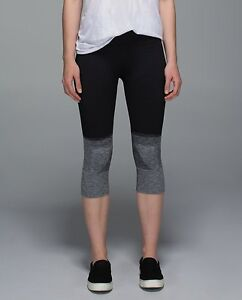 Lululemon - size 6 - seamlessly street crops - new - OMBRE