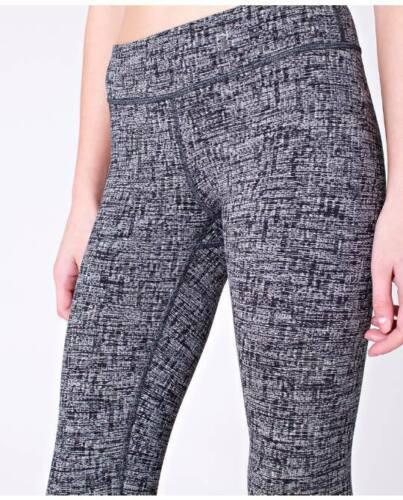 LULULEMON ivivva rythmic tights in penelope perf white black size 14 ..