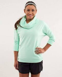 Lululemon Teal Don't worry be Happy pullover