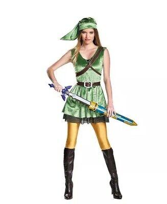 NEW Hot Topic Nintendo Legend Of Zelda Female Link Adult Size Small 4-6 Costume
