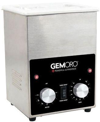 Gemoro 2 Quart Ss Ultrasonic Jewelry Cleaner Dual Power W Basket Tweezers 1732