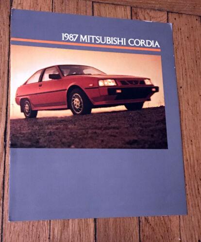 1987 Mitsubishi Cordia Brochure