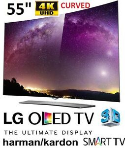 """NEW *OPEN BOX* LG 55"""" 4K ULTRA THIN 3D CURVED"""