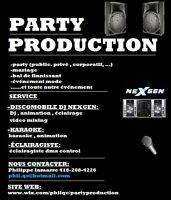 PartyProduction (DJ, KARAOKE, ÉCLAIRAGISTE, ANIMATION, STUDIO)