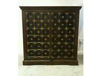 Solid wooden 'Maharaja' style cupboard