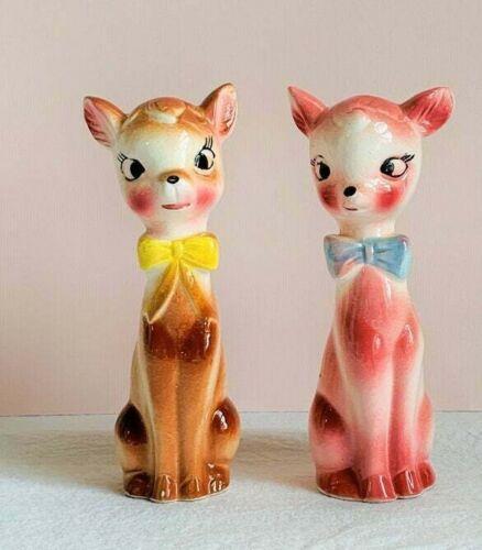 Vintage Anthropomorphic Kitsch Japan Fawns/Deer Nippon Yoko Boeki Co.,