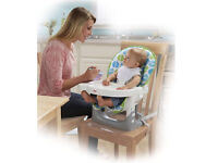 High chair with 5 harness