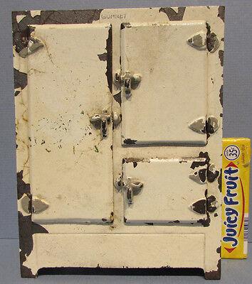 Veritable OLD ARCADE TOY C/IRON ICE BOX,  REFRIGERATOR, 3 DOORS **ON SALE** T101