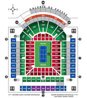 12-156$ - Coupe Rogers Mtl - Section 213 – Rangée G - Rogers Cup