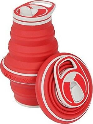 Hydaway Collapsible Water Bottle 21oz Red (Red Water Bottle)