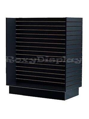 Slatwall H Unit Black Knock Down Display Store Fixture Sc-h-unitbk