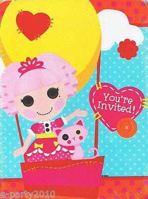 LALALOOPSY INVITATIONS & THANK YOU CARDS (8 ea.) ~ Birthday Party Supplies Notes - Lalaloopsy Birthday Invitations