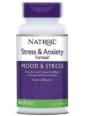 Natrol Stress And Anxiety Formula  Saf  90 Capsules