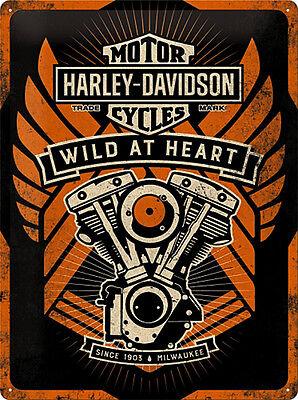 * Licensed Harley-Davidson Merchandising Werbung Deko Vintage Reproschild *677