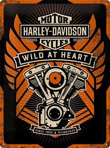 Licensed Harley-Davidson Merchandising Werbung Deko Vintage Reproschild *677