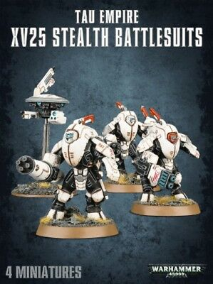 Warhammer 40K Tau Empire XV25 Stealth battlesuits X3 w/ Drones New Unboxed