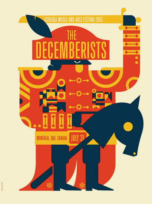 THE DECEMBERISTS CONCERT GIG POSTER 2015 - NEW