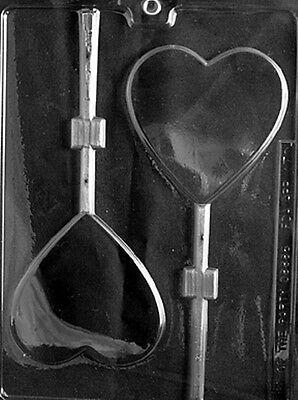 Large Heart Valentine Lollipop Chocolate & Soap Mold - V070