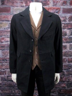 Frontier Classics old west world son gunfighter pioneer black coat sizes 38-52 - Old Men Costume