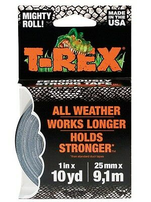 T-rex 241330 Polyethylene Coated Cloth Duct Tape 10 Yard Gray