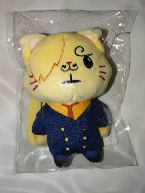 One Piece With Cat Sanji Chain Mascot Plush Doll Movic 14cm JAPAN Unopened