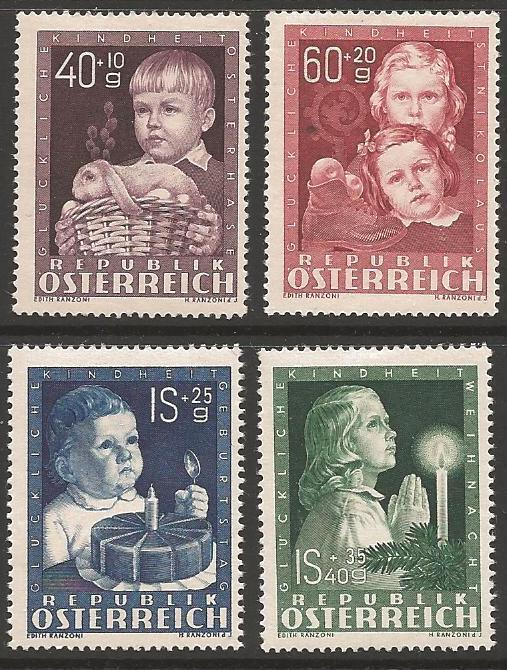 AUSTRIA SG1162/5 1949 CHILD WELFARE FUND MNH