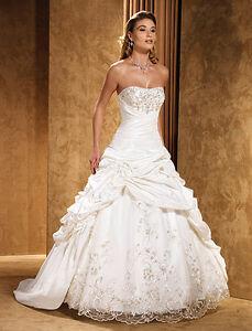 Size 14 Diamond White Wedding Dress by Eddy K