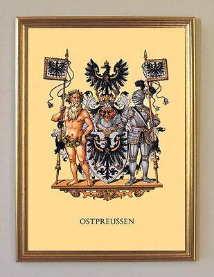 GROßES OSTPREUSSEN WAPPEN KÖNIGSBERG RIGA DEUTSCHES REICH 39 FAKSIMILE IM RAHMEN