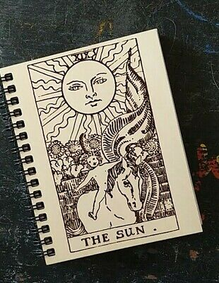 The Sun Tarot Card Laser Etched Blank Journal Notebook -