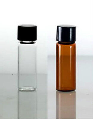 Glass Vials 1 Dram W Screw Cap Wholesale 20ct