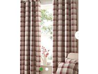 2 pairs of quality modern tartan curtains