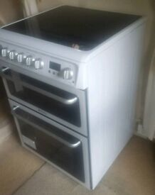 """""""CHEAP AS CHIPS""""FREE DELIVERY Hotpoint double oven 60.00cm width cookers """"AS NEW""""£129.95 only2day!!!"""