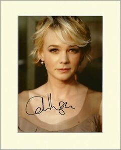 CAREY-MULLIGAN-THE-GREAT-GATSBY-HAND-SIGNED-AUTOGRAPH-PHOTO-10X8-MOUNTED-COA