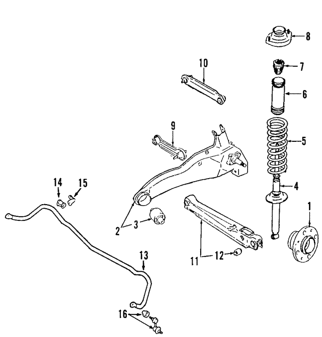 NEW Rear Lower Control Arm Set For Mitsubishi Outlander