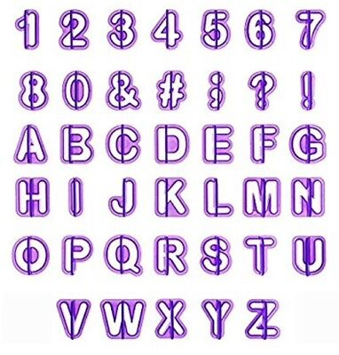 Alphabet Number Cutter Set Cut Outs Molds