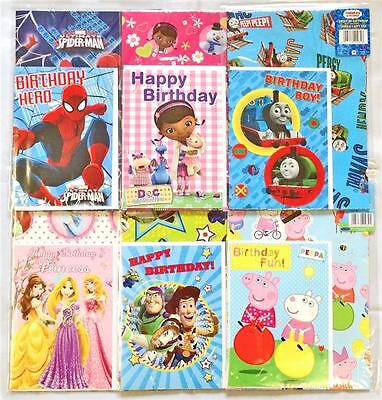 Gift Wrap Wrapping Paper & Card Peppa Pig Thomas & Friends Princess Spiderman ](Peppa Pig Wrapping Paper)