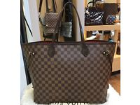 Louis Vuitton Neverfull Handbag With Purse
