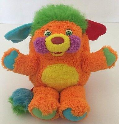 "Mattel Popples Puzzle Popple Plush Toy 11"" Orange Vintage 80's Toy No Tag"