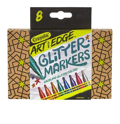 Crayola 588618 Crayola Art with Edge Set of 8 Glitter Markers New in Box - Crayola Marker Set