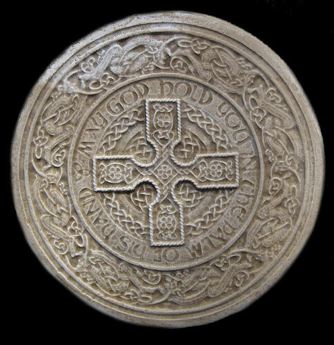 Celtic Round Cross Decorative Backsplash Sculpture Relief Tile