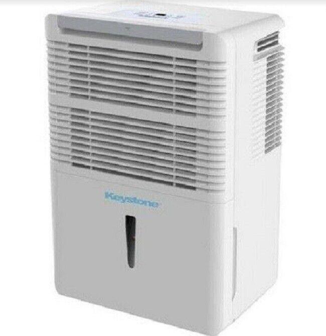 Keystone KSTAD70C Dehumidifier - 70 Pint / White - Brand New