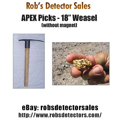 Apex 18 Weasel Prospecting Pick - Gold Prospecting Pick For Gold Nuggets