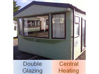Static caravan 30 x 12 ft 2 bedrooms, double glazing and central heating